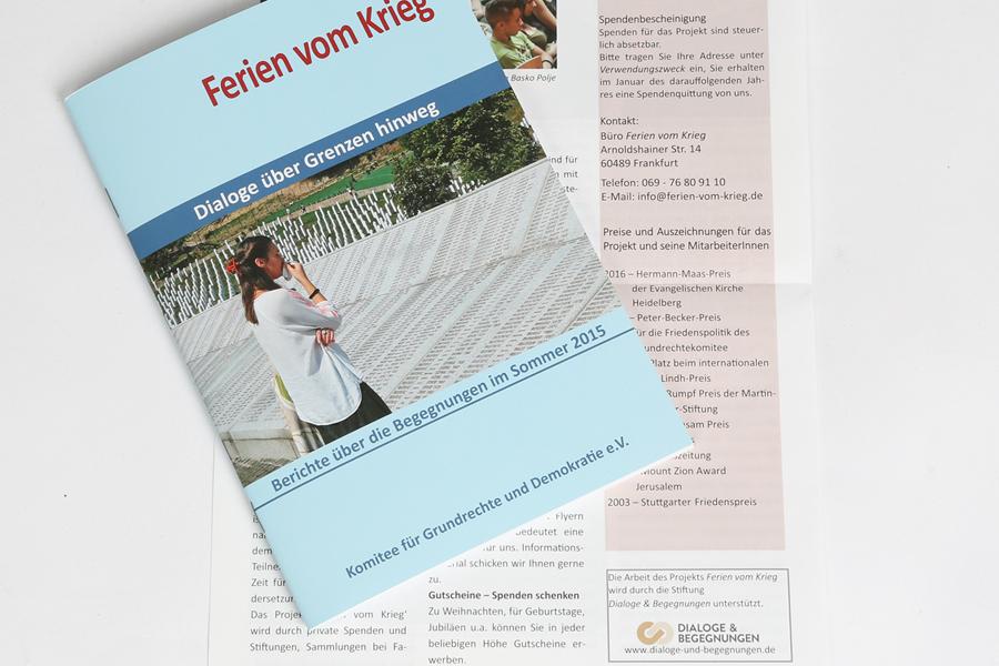 Dialoge über Grenzen hinweg: Der Bericht über die Begegnungen von Ferien vom Krieg im Sommer 2015