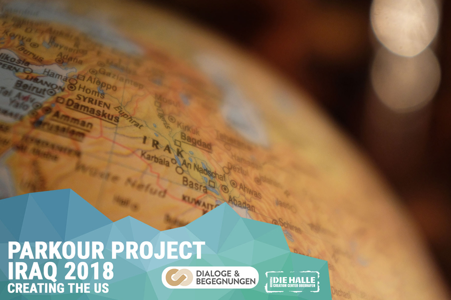 Parkour Creation Center Creating the Us - Parkour Project Iraq 2018 gefördert von der Stiftung Dialoge & Begegnungen