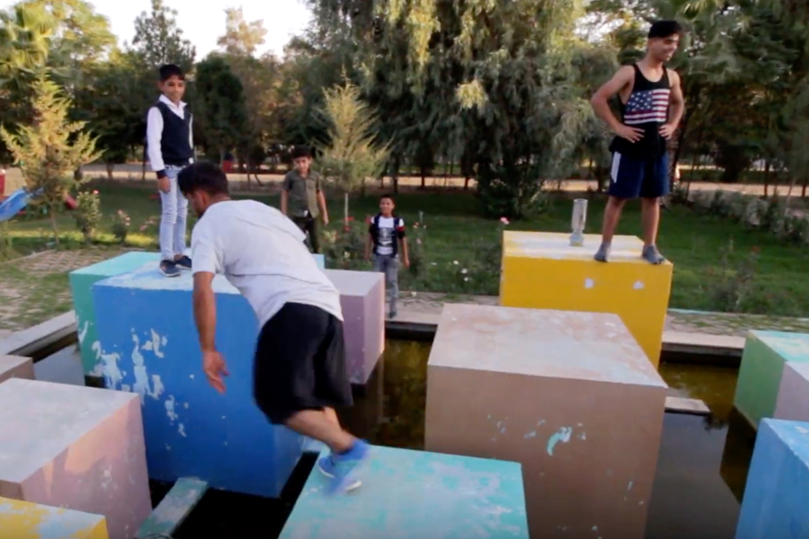 Parkour Creation Center: Creating the Us - Parkour Project Iraq 2019 gefördert von der Stiftung Dialoge & Begegnungen.
